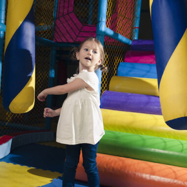 Girl in Indoor Playground