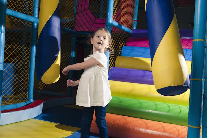 Girl in Indoor Playground