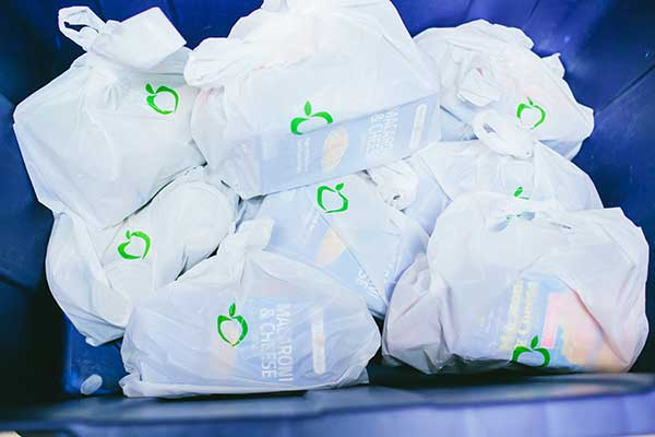 YMCA Food distribution bags