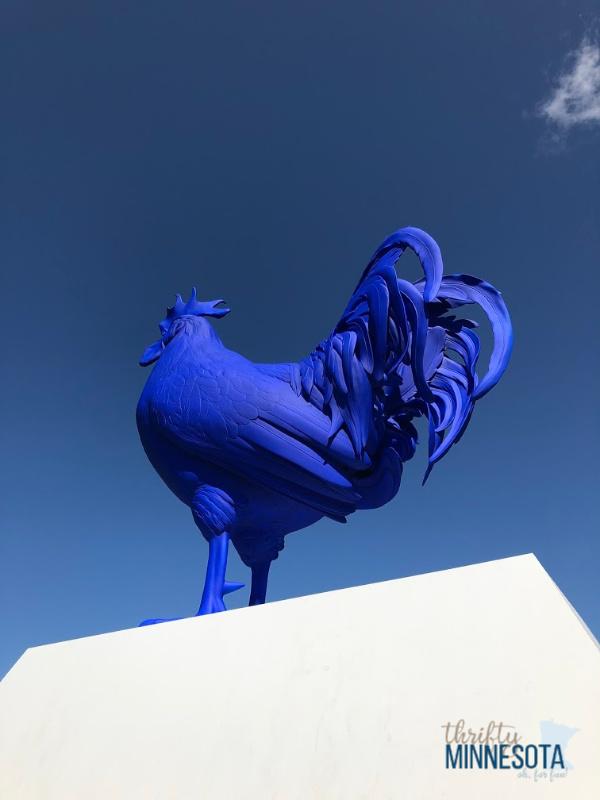 Blue Chicken Sculpture Minneapolis