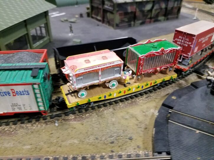 Circus Train cars at Twin City Model Railroad Museum