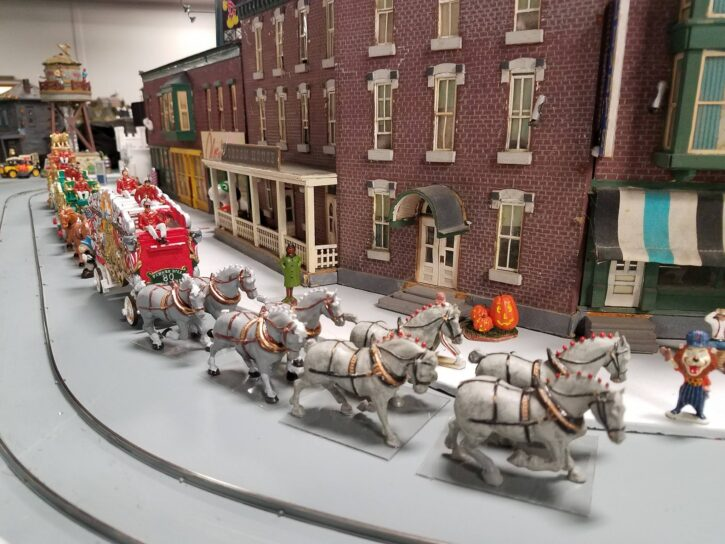 Circus Train parade at Twin City Model Railroad Museum