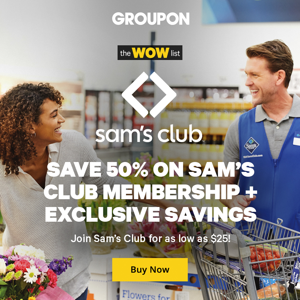 Sam's Club Groupon banner