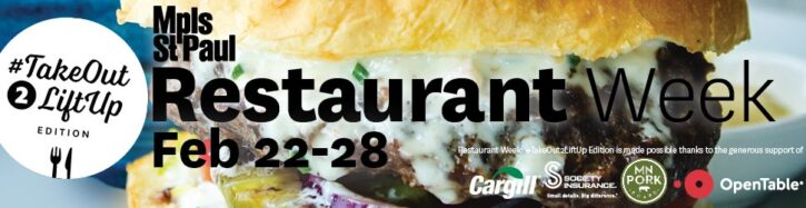 Twin Cities Restaurant Week February 2021