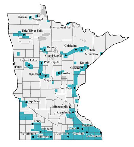 Minnesota Energy Resource service map