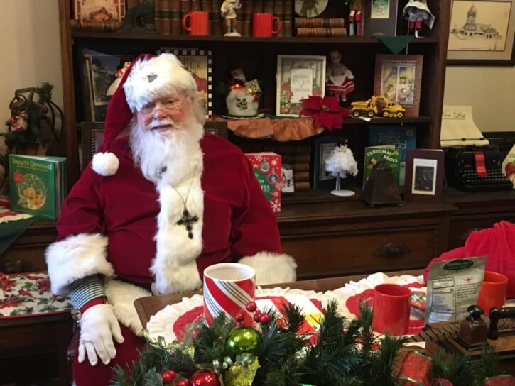 Santa at Christmas in the Courthouse