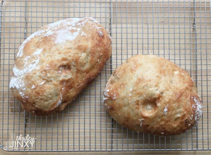 No-Knead Bread for Sandwiches
