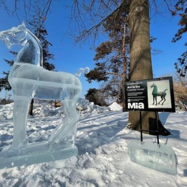 MIA Ice Sculpture Celestial Horse
