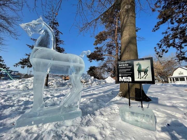 MIA Ice Sculpture Celestial Horse