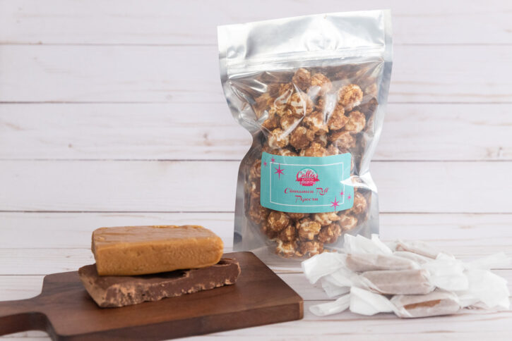 fudge, popcorn and caramels from Callie's Sweets