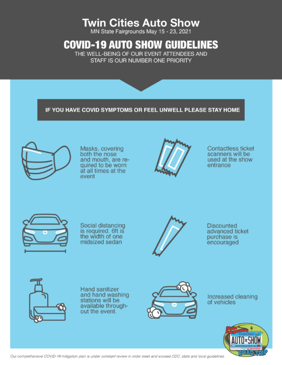 Twin Cities Auto Show COVID Guidelines