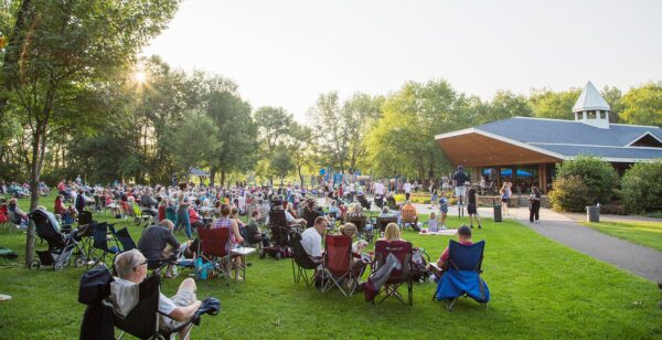 music in the park in Coon Rapids Minnesota