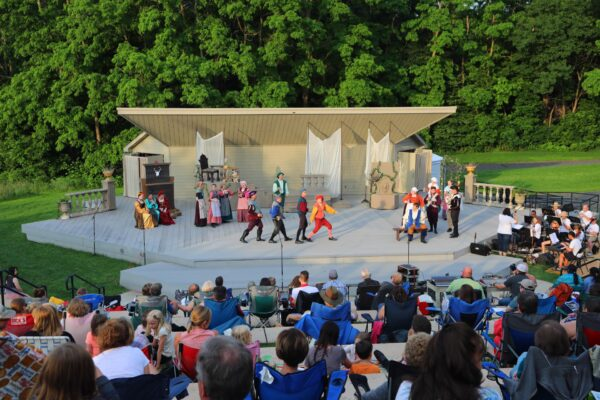 theater performance outdoors in Plymouth Minnesota