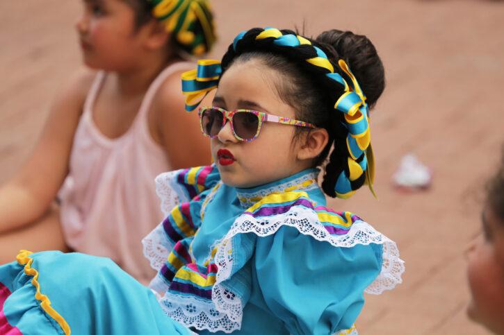 girl in ethnic dress at Flint Hills Family Festival