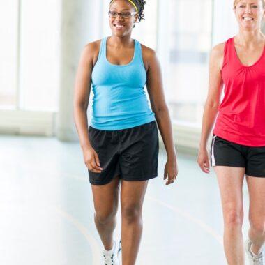 Two Women Mall Walking