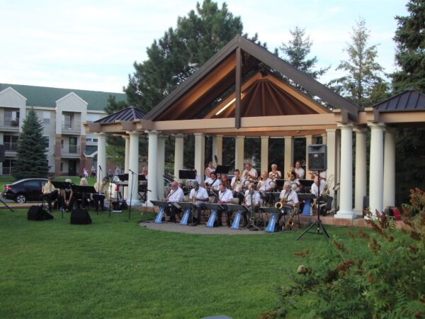 music in the park at Boerboom Park in Osseo Minnesota
