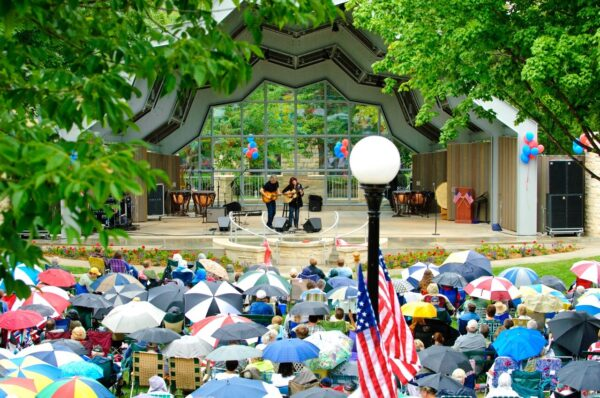 music in the park in Red Wing Minnesota