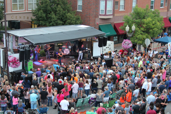 crowd outside at Rhythm on the Rails in Shakopee Minnesota