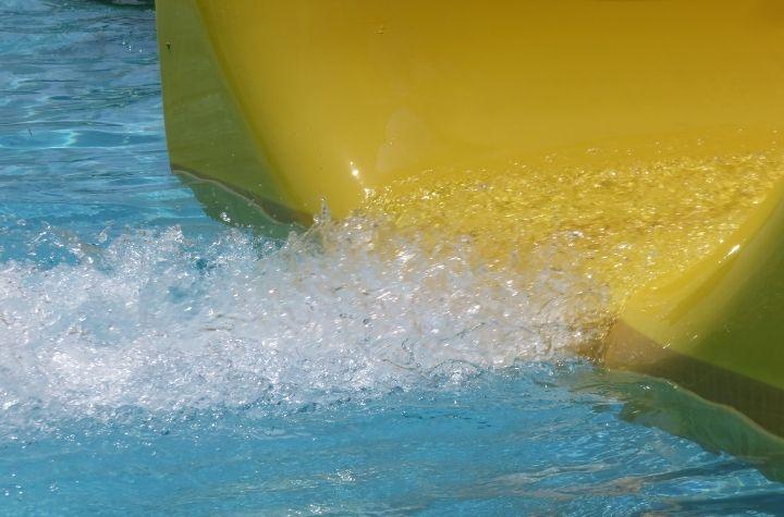 yellow water slide