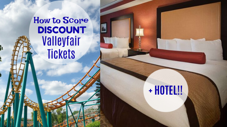 discount valleyfair tickets with hotel
