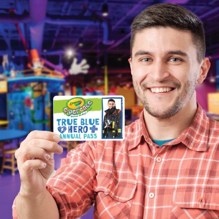 Crayola Experience free True Blue Hero annual pass
